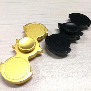 Bat Shape EDC แฮนสปีนเนอร์ ไฟ LED Finger Spinner โฟกัส Fidget ลดความเครียด Gadget