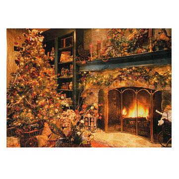 7Xvinile 5ft albero di Natale fotografia sfondo puntelli foto in studio sfondo