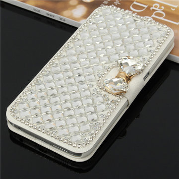 Bling Diamond Rhinestone Leather Case Stand Cover For Samsung Galaxy S6