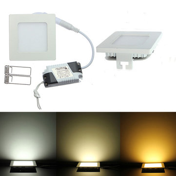 Dimmable Ultra Thin 9W LED Painel quadrado de tecto Down Light Lamp