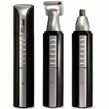 2 in 1 Electric Hair Trimmer Nose Ear Eyebrow Clipper Cleaner Beard Shaver