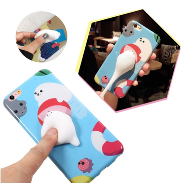 Bakeey™ Cartoon 3D Squishy Squeeze Slow Rising Polar Bear Seal Soft TPU Case for iPhone 6&6s 6sPlus