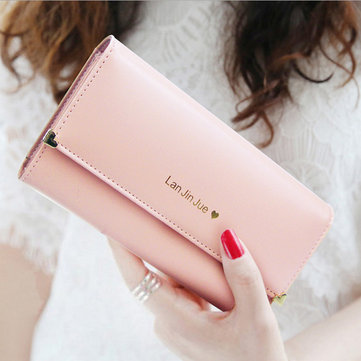 Women Large Capacity Pu Leather Wallet Cellphone Bags Coins Bag Credit Card Holder