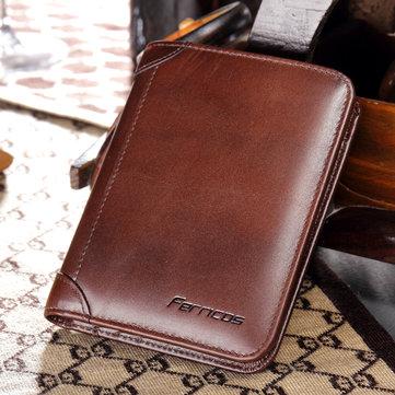 Мужской портмоне Men Genuine Leather RFID