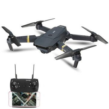 Eachine E58 WIFI FPV con 2MP Fotocamera Grandangolo Modalità di Attesa Elevata Pieghevole RC Drone Quadricottero RTF