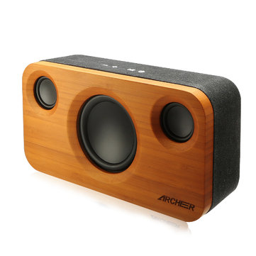 Buy ARCHEER A320 25W 5200mAh Bamboo Bluetooth Speaker Portable Subwoofer HIFI Stereo Audio Power for $63.99 in Banggood store
