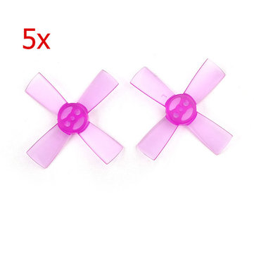 5 Pairs Upgrade PC 1535 38mm 1.5mm Mount Hole 4-Blade Propeller for Eachine Aurora 68 RC Drone