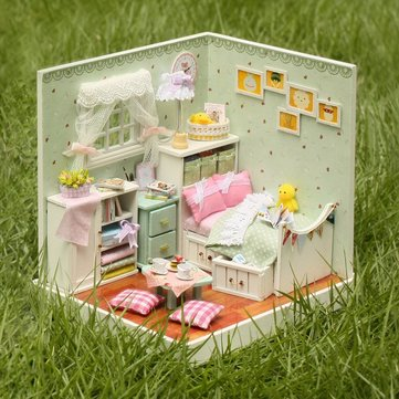 Cuteroom DIY Wooden Dollhouse The Wizard of Oz Handmade Decorations Model with LED Light and Cover