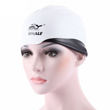 WHALE badmuts Ears Protection Waterdicht 3D Shape Silicone Solid Color Cap
