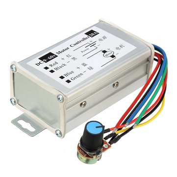 DC 9-60V 20A PWM Motor Stepless Variable Speed Controller Speed Regulator Switch Control 25KHz