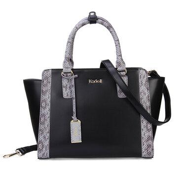Kadell Serpentine Style Ladies Handbag Splicing Bat Bag