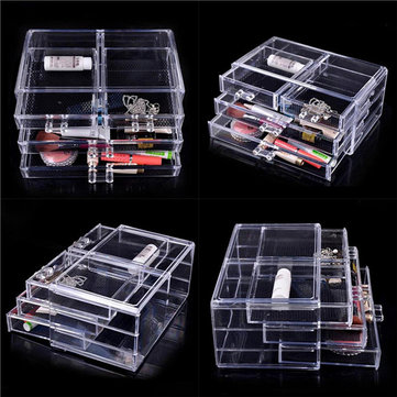 Clear Cosmetic Drawers Acrylic Makeup Organizer Display Storage - Acrylic makeup organizer