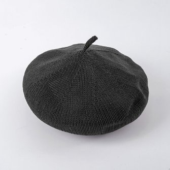 Mode Women Beret Hat Knitted Katoen Beret Cap Solid Color Casual Pumpkin Schilder Cap