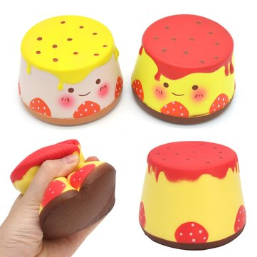 10cm Areedy Pudding Squishy Slow Rising Scented Cartoon Jelly Cake Authentieke Toy voor Cell Phone