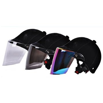 Motorcycle Summer Velvet Safety Half Helmet Riding Equestrian Breathable
