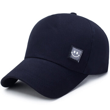 Unisex Canvas Smiling Face Sun Peaked Cap 13Mar