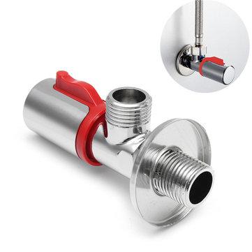 G1/2 Серебристый Медь Треугольный клапан для воды Смешивающий угольный клапан для воды Нагреватель Смеситель