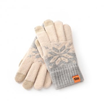 Original Xiaomi Female Screen Touch Gloves Wool Stretchy Soft Warm Knitting Winter Gloves For iPhone Xiaomi