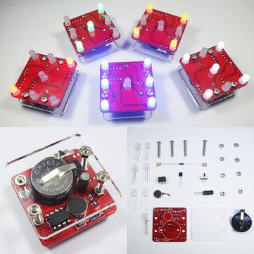 3 Adet Geekcreit® DIY Sallanan Sarı LED Dice Kit Küçük Vibrasyonlu Motor