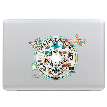Farfalla corona decalcomania adesivo in vinile guscio pelle decorazione del computer portatile della decalcomania per apple macbook