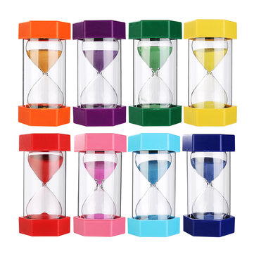 20min Sand Clock Timer Hexagonal Autism Hourglass Sandglass Home Office Decor 8 Colors