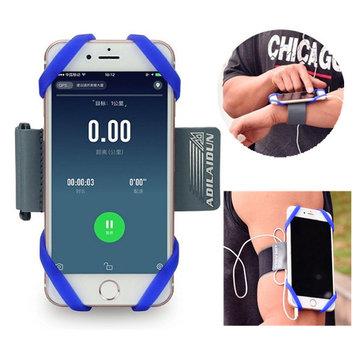 유연한 소프트 실리콘 실행 팔 가방 휴대용 스포츠 전화 케이스 팔 벨트 아래 6 inche 전화