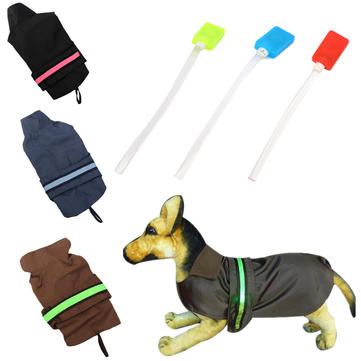 Pet Dog Puppy LED Stripe Rain Coat Waterproof Jacket Rain Clothes