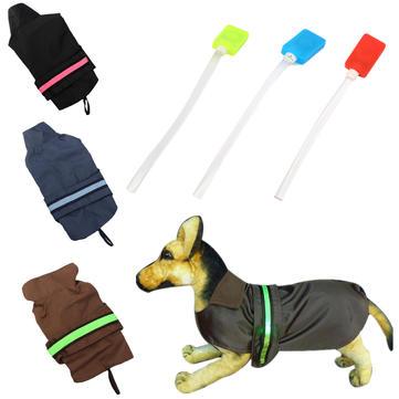 Pet Dog Puppy LED Stripe Rain Coat Waterproof Jacket Rain Clothes
