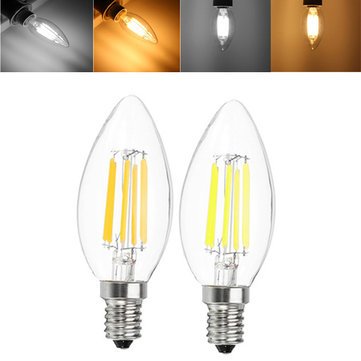 E12 E14 C35 5W 540LM Warm White Pure White LED Candle Light Bulb No Flicker AC110V AC220V
