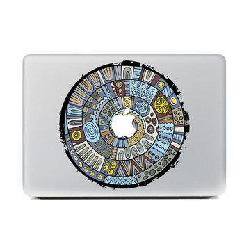 Blu fumetto totem autoadesivo del computer portatile della pelle della decalcomania della decalcomania del vinile per macbook 11'' 12'' 13'' 15'' 17'