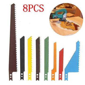 8 Adet Jigsaw Jiletler Kılıç Scroll Çeşitleme Seti Ahşap Metal Çelik Kuruduvat Jiletler