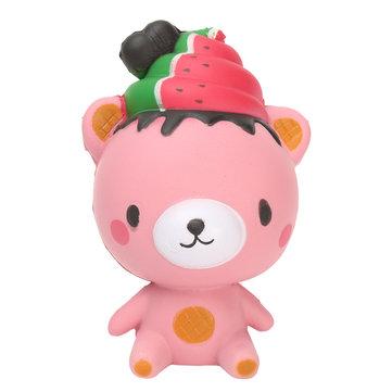 13cm Squishy Cute Bear Soft Slow Rising Restore Press Release Spelletjes Gift Lanyard voor mobiele telefoon