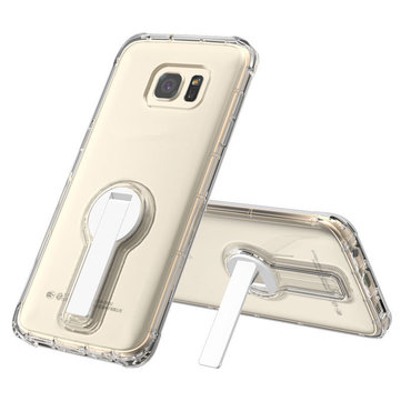 Rotating Kickstand Transparent Case For Samsung Galaxy S7 Edge