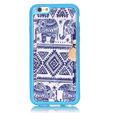 Tribe Elephant Pattern Back Holder Case For iPhone 6 6s
