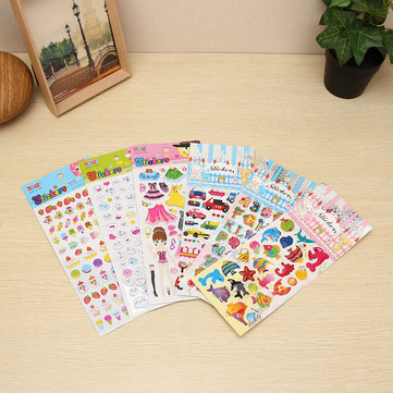 Cute Cartoon Sticker DIY Decor Sticker Smile Candy Letter Girl Car Sticker Kids Award Gift Toy