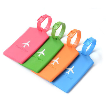 KCASA KC-LP09 Silicone Travel Luggage Tags Colorful Silicone Suitcase Label Travel Accessories