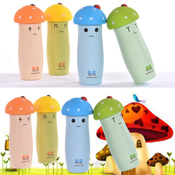 Mushrooms Shaped 304 Stainless Steel Vacuum Insulation Drinkware Coffee Tea Mug Water Bottle