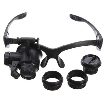 4 lente Headbrand LED Magnifier Magnifying Loupe Glass