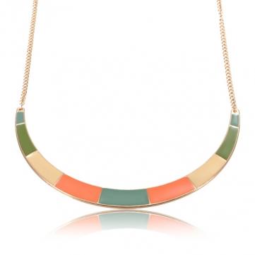 Fluorescent Color Alloy Choker Necklace
