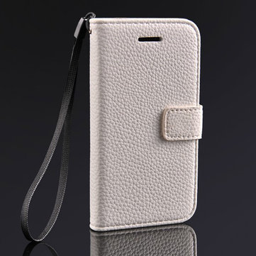 Litchi Grain PU Leather Stand Case With Card Holder For iPhone 5C