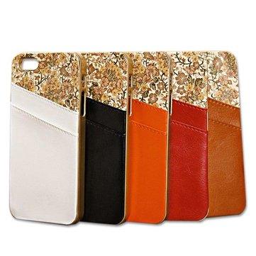 Карман для карт цветочный PU кожаный чехол для iPhone 5 5С