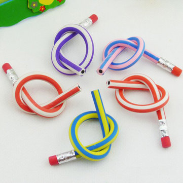 Colorful Magic Flexible Bendy Pencils With Erasers For Kids