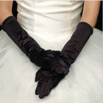 Ladies Silk Fancy Dress Prom Evening Party Long Finger Gloves