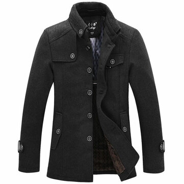Winter Mens Warm Fleece Jacket Coat Wool Jacket Plus Size S-XXL at ...