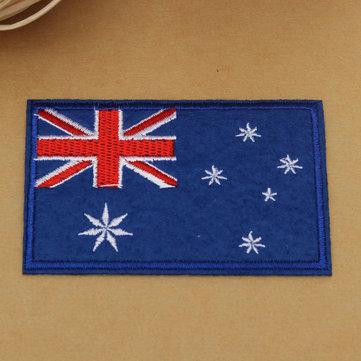 호주 국기 패턴 수 놓은 배지 패치 DIY 배지