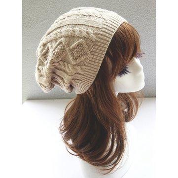 Women Fashion Double Helix Wool Cap Knit Hat