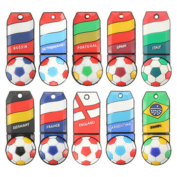 8GB USB 2.0 World Cup Football Model Flash Drive Memory Storage U Disk