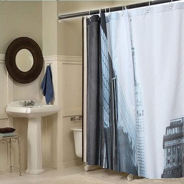 180x200cm Street Pattern Picture Bathroom Fabric Bath Shower Curtain