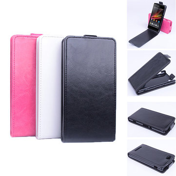 Flip PU Magnetic Leather Case For Sony Xperia M