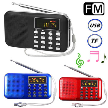 Mini Portable LCD Digital FM Radio Speaker USB Micro SD TF Card Mp3 Music Player